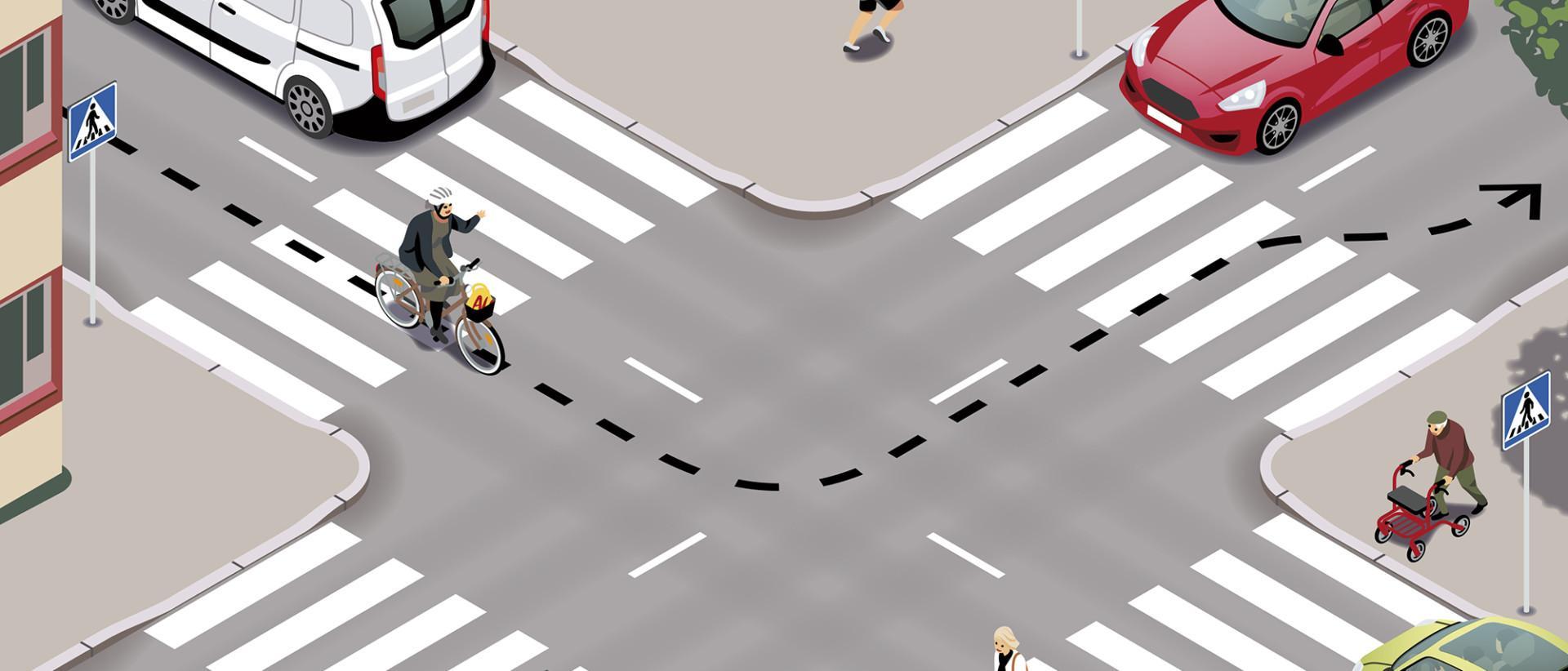 Pyöräilijä on ajoneuvon kuljettaja. Kuva Jussi Kaakinen/Liikenneturva.